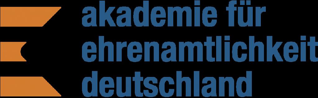 Das Bild zeigt das Logo der Akademie für Ehrenamtlichkeit Deutschland, ein Netzwerkpartner des Neuköllner EngagementZentrums.