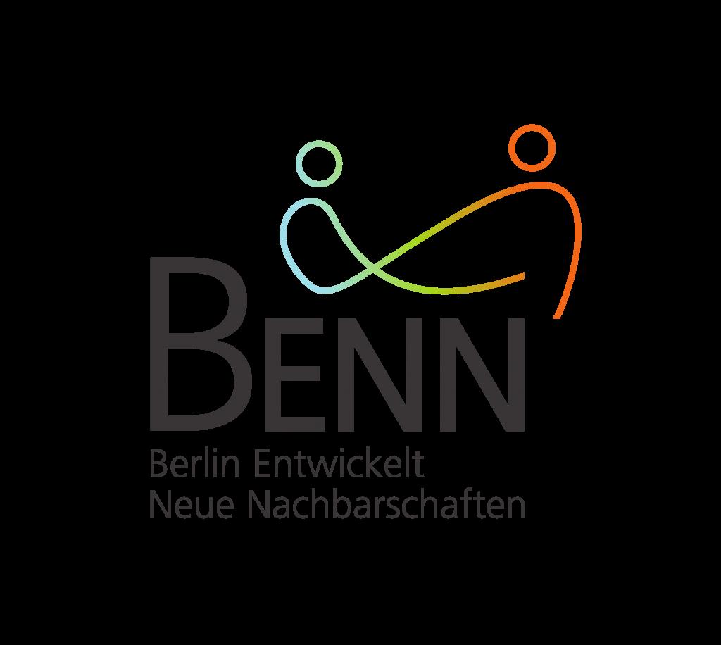 Das Bild zeigt das Logo von Berlin Entwickelt Neue Nachbarschaften, ein Netzwerkpartner des Neuköllner EngagementZentrums.