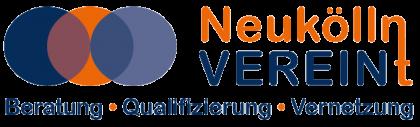 Das Bild zeigt das Logo von Neukölln Verein(t), ein Netzwerkpartner des Neuköllner EngagementZentrums.