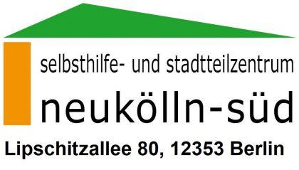 Das Bild zeigt das Logo des Selbsthilfe und Stadtteilzentrum Neukölln Süd, ein Netzwerkpartner des Neuköllner EngagementZentrums.