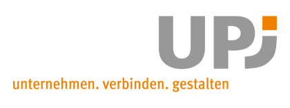 Das Bild zeigt das Logo des UPJ, ein Netzwerkpartner des Neuköllner EngagementZentrums.