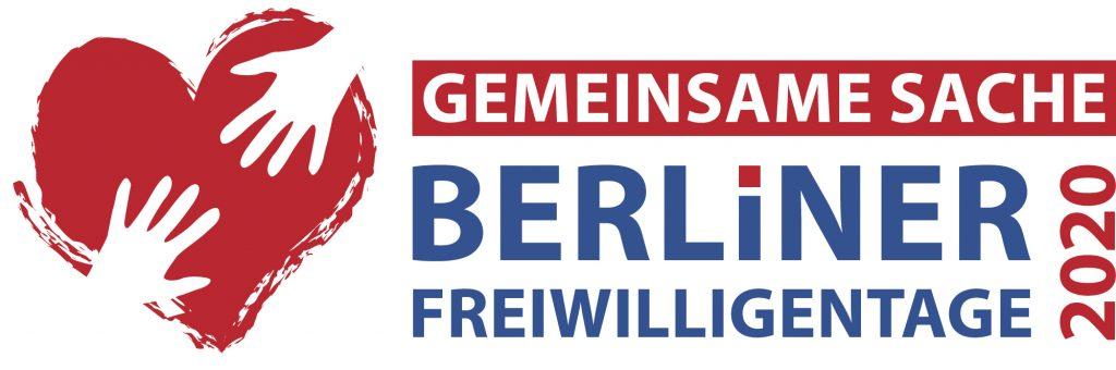 Das Bild zeigt das Logo der Berliner Freiwilligentage, ein Netzwerkpartner des Neuköllner EngagementZentrums.