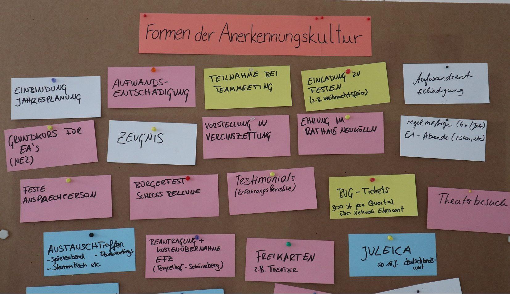 Qualifizierungen rund um bürgerschaftliches Engagement.