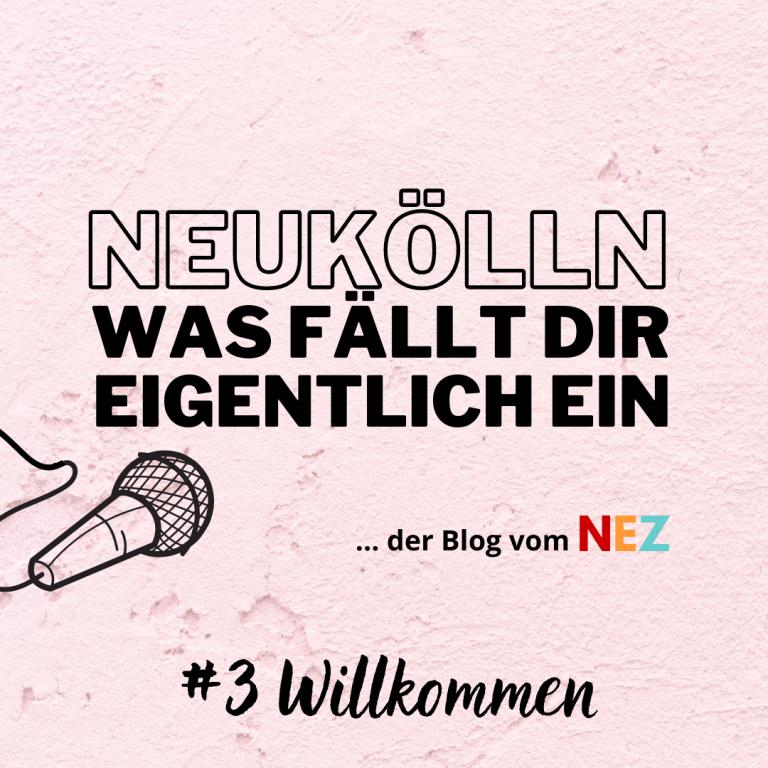 """Das Bild zeigt den Banner des NEZ-Blog mit dem Schriftzug """"#3 Willkommen"""""""